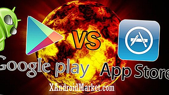 Google Play (Android Market) vs. Apple App Store - 2012