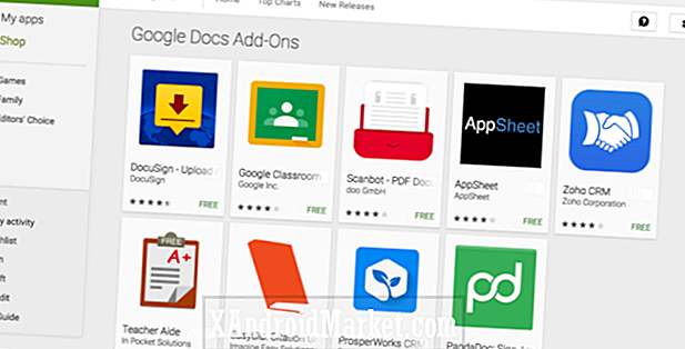 Google Docs and Sheets op Android ondersteunen nu add-ons