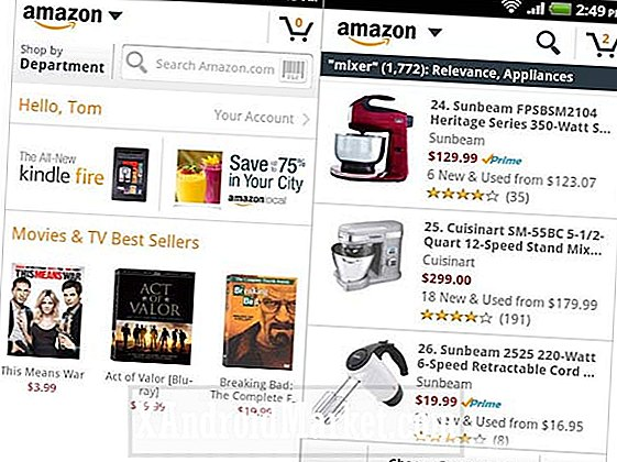 "Amazon Mobile app uppdateras med ny funktion ""Shop by Department"""