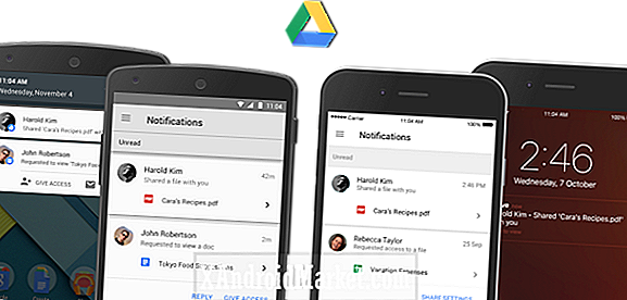 Google Drive agrega notificaciones procesables para compartir archivos