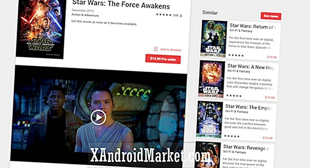 Star Wars: The Force Awakens en précommande sur Google Play, bande son disponible également