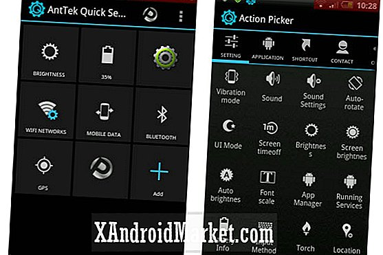 Application AntTek Quick Settings: paramètres rapides Jelly Bean pour les versions Android