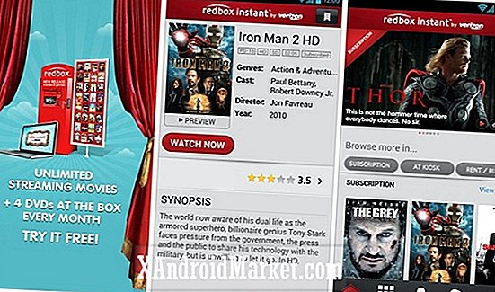 L'application Redbox Instant est maintenant disponible sur Google Play