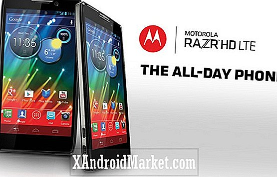 "Motorola Razr HD Jelly Bean oppdatering for ""sen desember"""