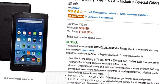 Deal: 7-tommers Amazon Fire-tavle for $ 40