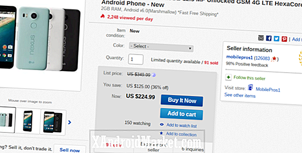 Deal: Nexus 5X for $ 224,99 på eBay (spar 36%)