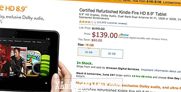 "Oferta diaria de Amazon: Kindle Fire HD restaurado 8.9 ""por $ 139 (ahorre $ 60)"
