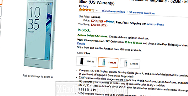 Deal: Sony Xperia X Compact for $ 299 ($ 100 off) på Amazon