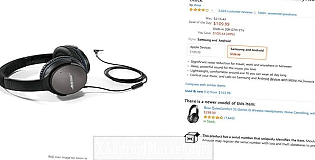 Offre: un casque antibruit Bose QuietComfort 25 maintenant à 110 $ (49% de réduction) sur Amazon