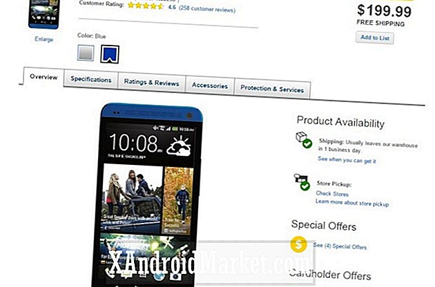 Deal Alert: HTC One (M7) Electric Blue är nu bara $ 199, inget kontrakt
