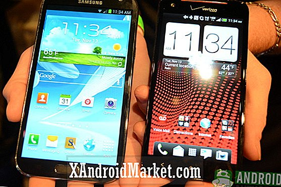 HTC Droid DNA versus Samsung Galaxy Note 2