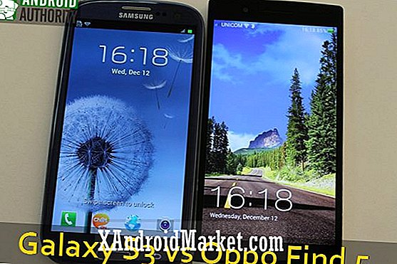 Samsung Galaxy S3 vs Oppo Find 5 [video]