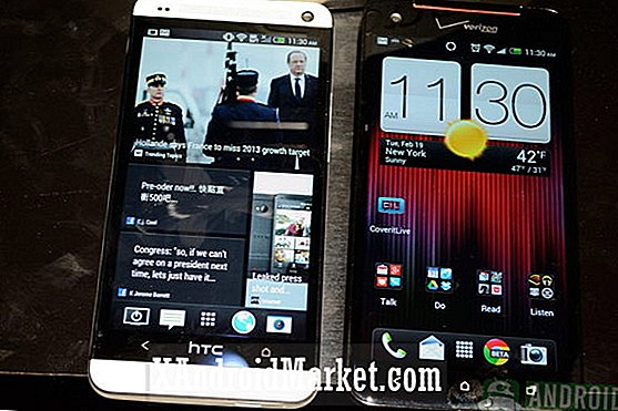 HTC One vs HTC Droid DNA [video]