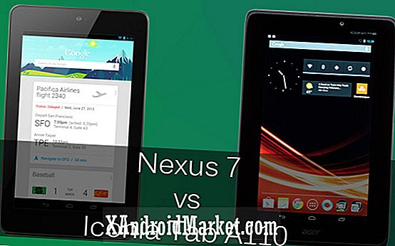 Google Nexus 7 vs. Acer Iconia Tab A110