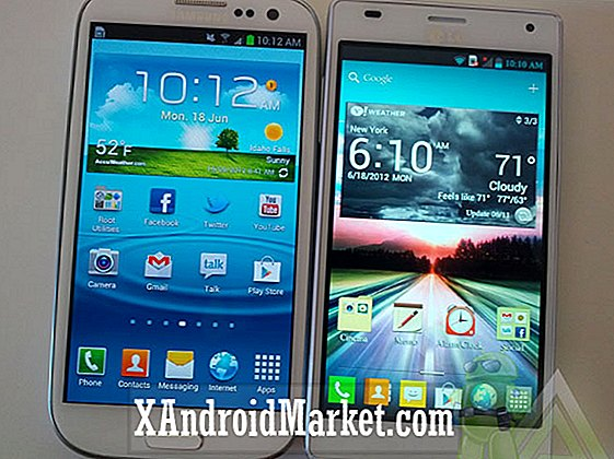 Samsung Galaxy S3 vs LG Optimus 4X HD - comparación cabeza a cabeza [video]