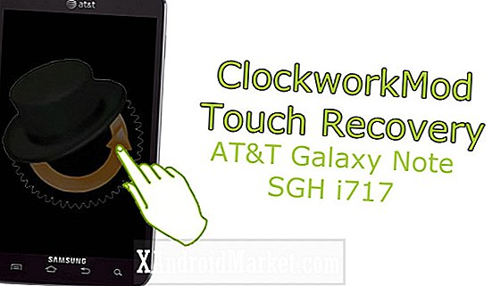 Samsung Galaxy Note SGH-I717 (AT & T): Hoe ClockworkMod Touch Recovery te installeren