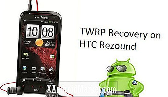 HTC Rezound: Comment installer TWRP Touch Recovery 2.1 non officiel