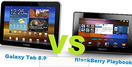 Galaxy Tab 8,9 LTE ​​vs BlackBerry PlayBook