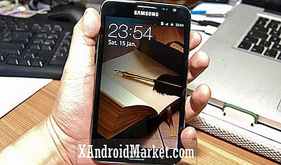 Samsung Galaxy Note Hands On Video, verschijnt op de website van de detailhandel