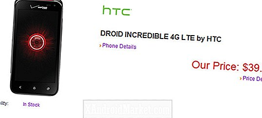 Stor avtale: Verizon er HTC Droid Incredible 4G LTE for $ 39,99 på La oss snakke