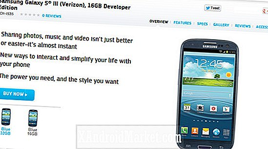 Samsung lance le Verizon Galaxy S3 Developer Edition