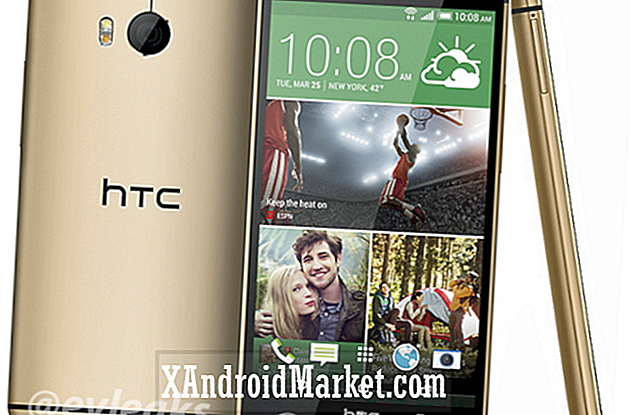 "Her er ""All new HTC One"" i guld"