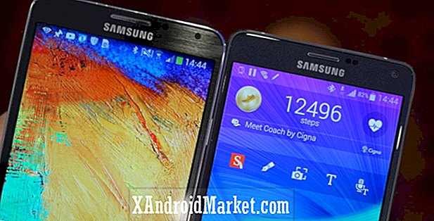 Galaxy Note 4 vs Galaxy Note 3 hurtig udseende