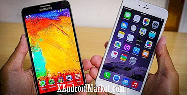 iPhone 6 Plus vs Galaxy Note 3 coup d'oeil