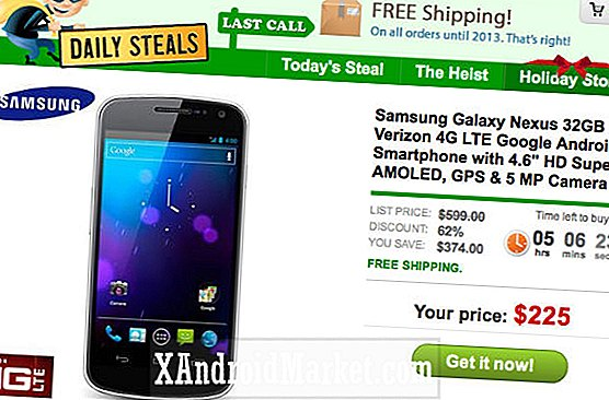 225 $ Verizon Galaxy Nexus disponible via Daily Steals