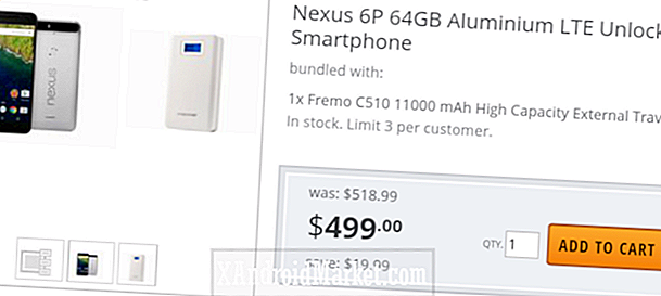 Bare i dag: 64GB Nexus 6P og 11.000mAh batteripakke for $ 499