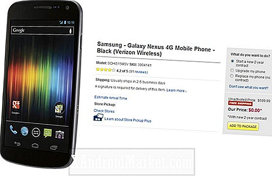 Best Buy ofrece Verizon Galaxy Nexus gratis en contratos de dos años