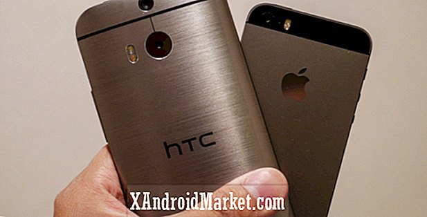 HTC One (M8) vs iPhone 5S aperçu rapide