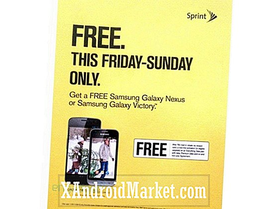 Leaked Sprint Black Friday-advertentie onthult gratis Galaxy Nexus- en Galaxy Victory-promoties