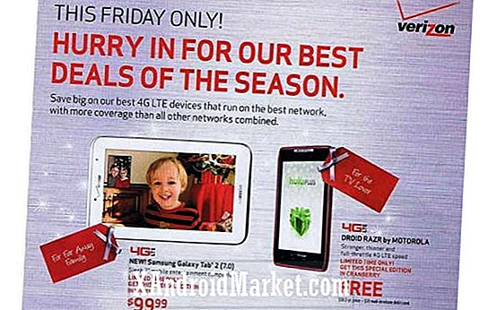 "La oferta de Verizon Black Friday 2012 incluye el ""Cranberry"" Droid RAZR, Galaxy Nexus y $ 99 Galaxy Tab 2 7.0 gratis"