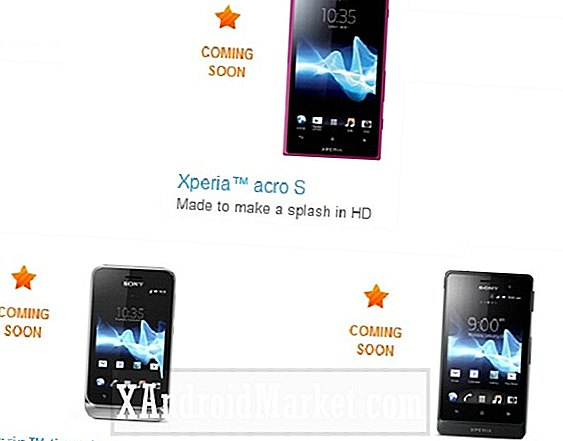 Sony Xperia Acro S, Xperia Tipo Dual og Xperia Advance ankommer snart i USA