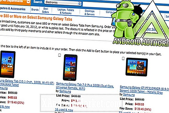 Spar opptil $ 140 på Samsung Galaxy Tabs hos Amazon (Select Models)