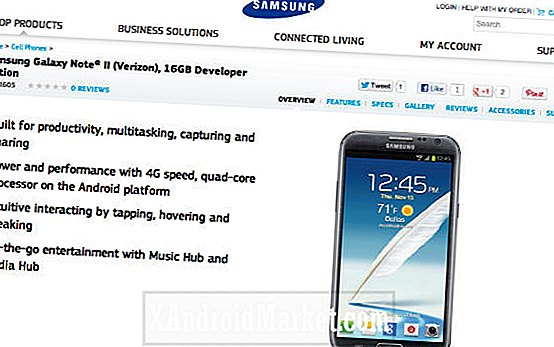 16GB Galaxy Note 2 Developer Edition komt binnenkort naar Verizon