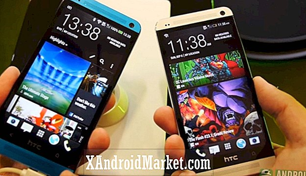 Comparación rápida: HTC One Blue vs.  Red Vs.  plata