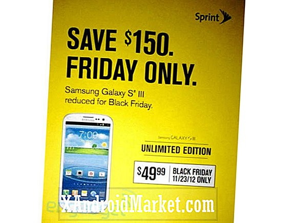 $ 49,99 Sprint Galaxy S3 Black Friday deal al ontdekt