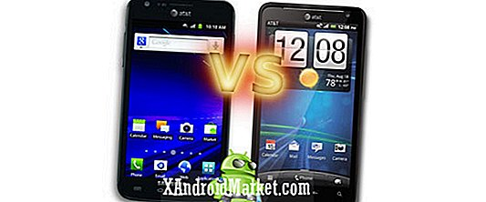 HTC Vivid vs Samsung Galaxy S2 Skyrocket: Combinés phares d'AT & T