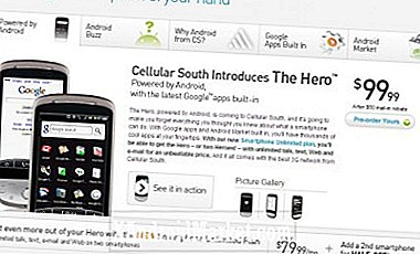 Cellular South tilbyr HTC Hero for bare $ 99,99