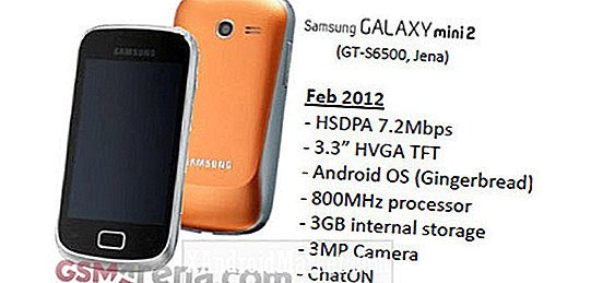 Samsung Galaxy Mini 2 S6500 Bundet til Mobile World Congress 2012