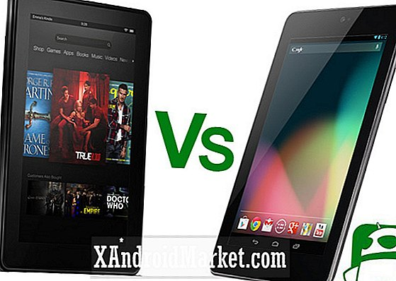 Amazon New Kindle Fire contra Google Nexus 7