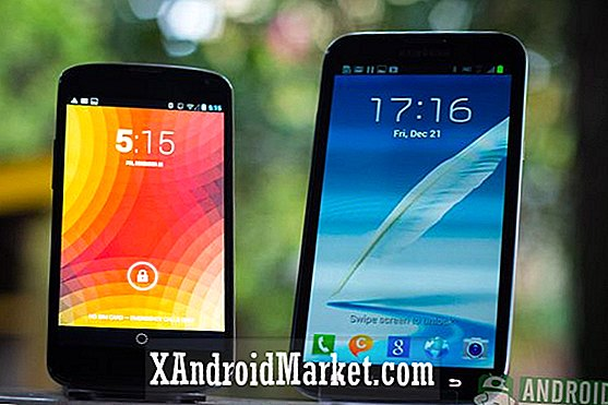 Samsung Galaxy Note 2 vs Google Nexus 4