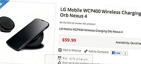 Nexus 4 Wireless Charging Orb koster kr 59,99, det er på lager enda