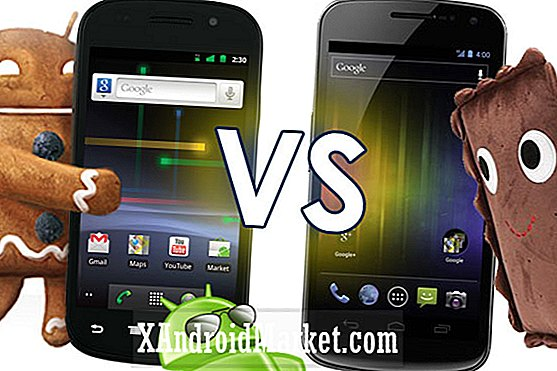 Android 2.3 Gingerbread vs.  Android 4.0 Ice Cream Sandwich [video]
