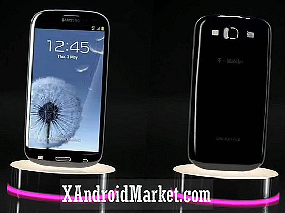 Le Samsung Galaxy S3 noir attrapé sashaying sur le site Web de T-Mobile