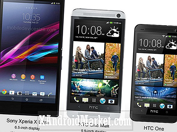 Størrelsesestimat: Xperia Z Ultra vs HTC One Max vs HTC One