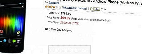 Amazon sælger Verizon Galaxy Nexus til nye kunder for $ 99