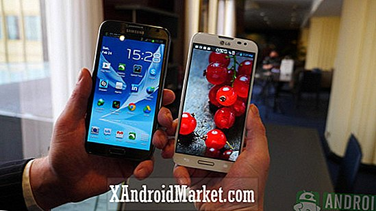 LG Optimus G Pro vs Galaxy Note 2: en chiffres